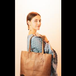 Tasche - Antonella Shopper, Antique/Caramel - Markberg