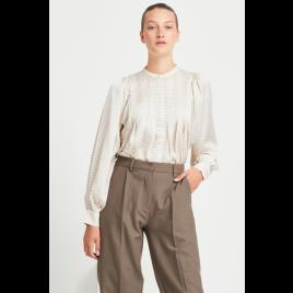 Bluse - Acacia Eadie, White Cream AOP - Bruuns Bazaar