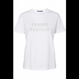 T-Shirt - Kally Femme, White - Bruuns Bazaar