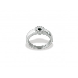 RING - 3, SHINY SILVER CRYSTAL - DYRBERG/KERN