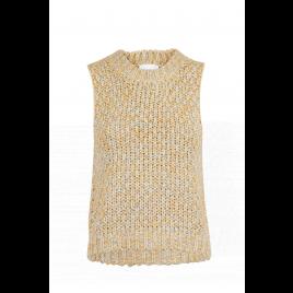 Weste - Ricky Rainbow Knit vest, yellow - Neo Noir
