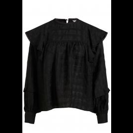 Bluse - Objeden Top L/S, black - Object