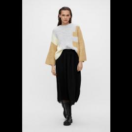 Pullover - Objalizee Knit, Khaki - Object