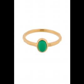 Ring - Shine Green, Chalcedony/Gold - Pernille Corydon